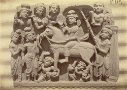 Buddhist sculpture slab excavated at Lorian Tangai, Peshawar District: the pravrajya of Prince Siddharta